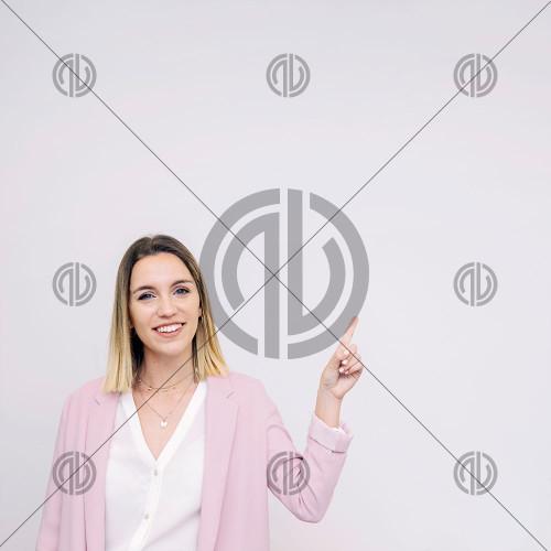 Kadın İşaret Konsept Fotoğraf