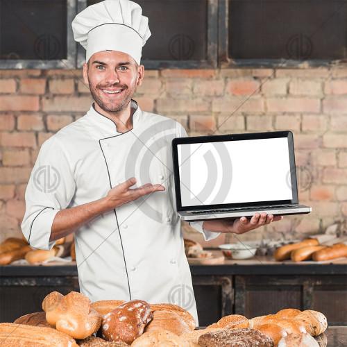 Konsept Aşçı Fotoğrafı