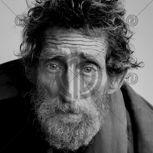 Portre Siyah Beyaz Adam